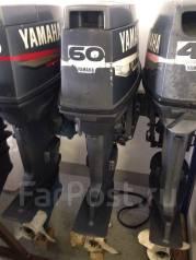 Yamaha. 60,00л.с., 2х тактный, бензин, нога L (508 мм), Год: 2001 год