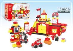 Конструктор 139 деталей Пожарная станция