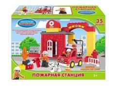 Конструктор 35 дет. Пожарная станция