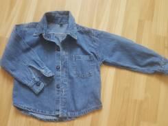 Рубашки джинсовые. Рост: 86-92, 92-98 см