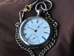 Карманные часы Elgin, 1874 года. С цепью. Прикоснись к истории!. Оригинал