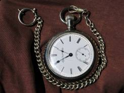 Карманные часы Elgin, 1891 года. С цепью. Прикоснись к истории!. Оригинал