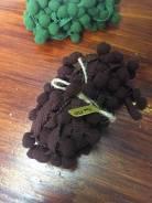 Лента с помпонами цвет шоколад