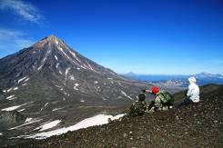 Экскурсии, туры по Камчатке, туризм, восхождение на вулкан отдых океан