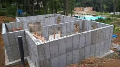 Строительство фундаментов.