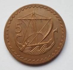 1973 Кипр. 5 милс. AU