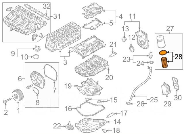 Фильтр масляный. Volkswagen: Passat, Jetta, Scirocco, Tiguan, Sharan, Beetle, Polo, Touran, Arteon, Golf Audi: Q5, S6, Q7, S8, S3, TT, A4 allroad quat...