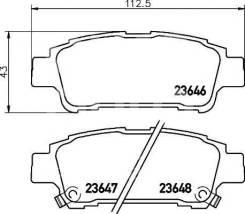 Колодка тормозная дисковая. Toyota: Sienna, Tarago, Picnic, Picnic Verso, Previa, Estima, Alphard, Avensis Verso Двигатели: 3MZFE, 1CDFTV, 2AZFE, 1AZF...