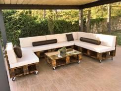 Изготовление эко мебели из массива дерева, поддонов