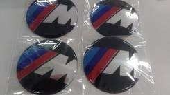 Заглушки, накладки на литье M BMW 4 шт D 6.5 см