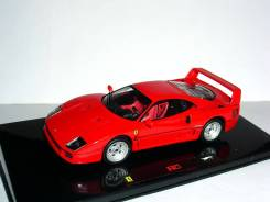 Ferrari F40 1987г Elite Hot Wheels 1/43 - Феррари Ф40 1:43 RED . RAR