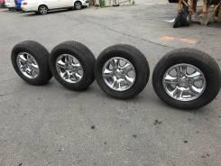 R17 диски (хром) Lexus GX470+265/65R17 резина Bridgestone. 7.5x17 6x139.70 ET25 ЦО 100,0мм.