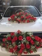 """Украшение на свадебное авто от салона """"EDEN for Brides"""""""
