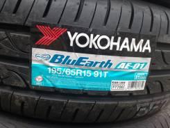 Yokohama BluEarth AE-01. Летние, 2015 год, без износа, 4 шт
