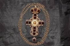 Оригинальный крест с украшениями авторской работы. Россия, ХХ век.