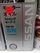 Nissan. 5W-30, синтетическое, 4,00л.