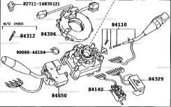 Блок подрулевых переключателей. Toyota Dyna, XZU568, XZU338, XZU314, XZU302, XZU423, BU400, XZU504, XZU330, XZU382, XZU411, XZU378, BZU340, XZU354, XZ...