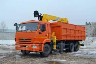 Камаз 65115. КМУ+Самосвал КамАЗ-65115-773094-42+КМУ Soosan SCS736L2 Top, 11 500 куб. см., 15 000 кг.