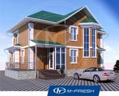 M-fresh Comfort (Проект 2-этажного дома с эркером! ). 200-300 кв. м., 2 этажа, 5 комнат, кирпич