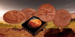 Ниуэ 1 доллар 2017 Марс. Метеорит NWA 7397. Солнечная Система