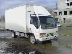 Isuzu Elf. Породам мебельный фургон с гидробортом, 4 600 куб. см., 4 000 кг.