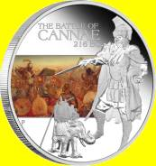 Тувалу 1 доллар 2009 Cannae. Битва при Каннах. Солдат. Лошадь