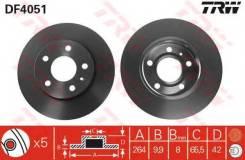 Диск тормозной задний opel astra g, h df4051 TRW/Lucas арт. DF4051