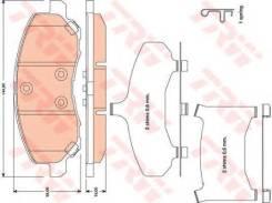 Колодки передние chrysler sebring (js), dodge caliber, mitsubishi asx gdb4142 TRW/Lucas арт. GDB4142