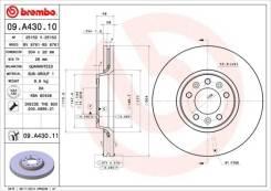 Диск тормозной standard | перед | Brembo арт.09A43010