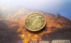 Экзотика! Намибия. 1 доллар 1993 года. Орёл-скоморох. Первый выпуск!