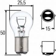 Лампа накаливания! 24v p21/5w bay15d задние габариты и стоп-сигнал man, mb, volvo Hella арт. 8GD002078241 8gd 002 078-241_