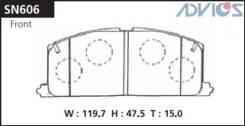Дисковые тормозные колодки advics ADVICS арт.SN606