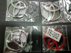 """Значки самоклеящиеся для колпаков литых дисков Toyota 43мм*38мм. Диаметр 17"""""""", 1шт"""