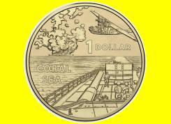 Австралия 1 доллар 2017 Coral Sea. Серия 'A War Close to Home'