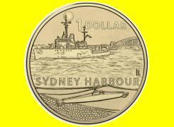 Австралия 1 доллар 2017 Sydney Harbour. Корабль. Подводная лодка