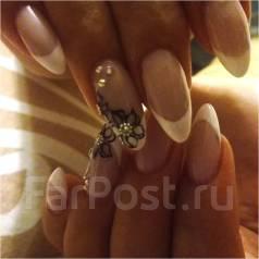 Наращивание ногтей, покрытие гель лак