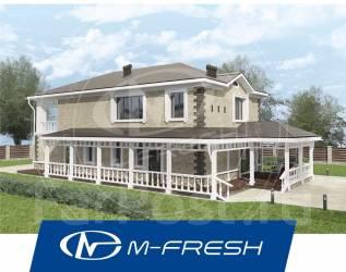 M-fresh Amazon'ka (! Красивый проект дома с накрытой террасой! ). 200-300 кв. м., 2 этажа, 6 комнат, бетон
