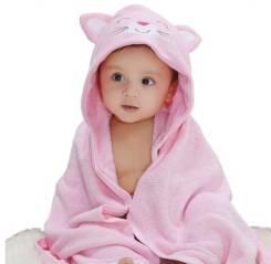 Детское полотенце звери с капюшоном. Под заказ