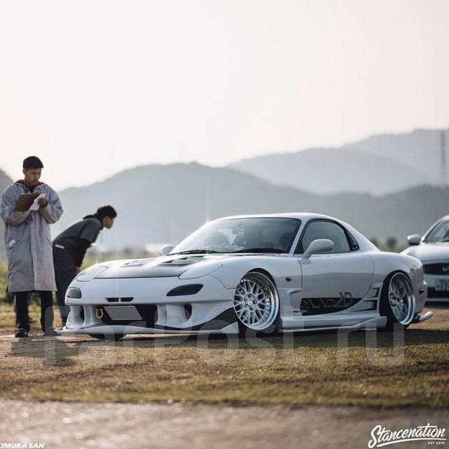 Накладка на порог. Mazda RX-7. Под заказ