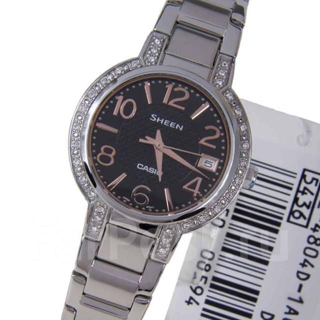 Женские часы Casio SHE-4804D-1A Мужские часы Oris 111-7700-40-63MB