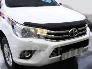 Дефлектор капота. Toyota Hilux Pick Up, GUN125L, GUN125, GUN126L Двигатели: 2GDFTV, 1GDFTV. Под заказ