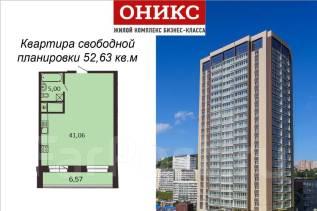 1-комнатная, проспект Красного Знамени 114а. Третья рабочая, застройщик, 52 кв.м.