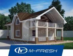 M-fresh Madagascar-зеркальный (Проект дома с жилой мансардой! ). 100-200 кв. м., 1 этаж, 4 комнаты, бетон