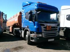 Scania. Сцепка (бензовоз) тягач седельный skania p360 и полуприцеп цистерна