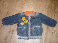 Куртки джинсовые. Рост: 68-74, 74-80 см