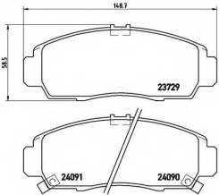 Колодка тормозная. Honda Legend Honda FR-V Honda Stream Honda Civic, EU, EU1, EU2, EU3, EU4 Двигатели: C35A1, C35A2, C35A3, C35A4, C35A5, D17A2, K20A9...