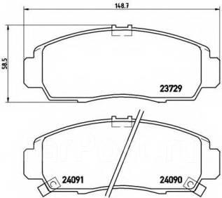 Колодка тормозная. Honda Civic Honda FR-V Honda Stream Honda Legend Двигатели: R16A1, R18A2, R18A1, R16A2, K20A3, D17A2, N22A1, K20A9, K20A1, C35A2, C...