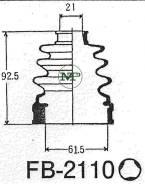 Пыльник ШРУС FB2110/02-128 MARUICHI MARUICHI