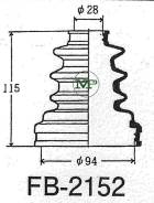 Пыльник ШРУС FB2152 / HF-35011TO ФОРСАЖ FORSAG