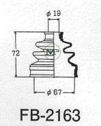 Пыльник ШРУС FB2163/02-135 MARUICHI MARUICHI